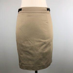 Calvin Klein Khaki Pencil Skirt Size 2P